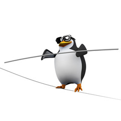3d Tightrope penguin