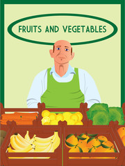 Greengrocer vector