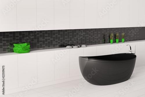 schwarze badewanne 3d von vadim andrushchenko lizenzfreies foto 22509675 auf. Black Bedroom Furniture Sets. Home Design Ideas
