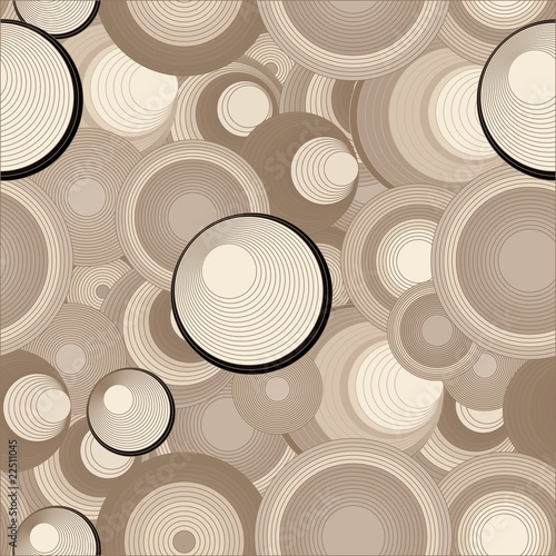 Retro circles seamless background