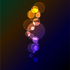 Abstract vector background with circles