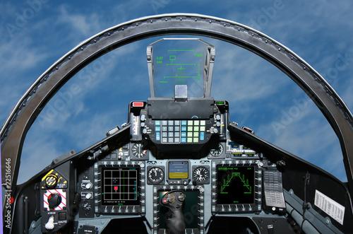 Aluminium Vliegtuig Fighter Jet cockpit