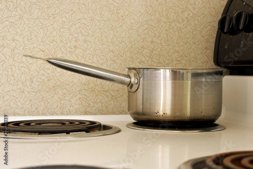 pan on old stove