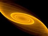 Fractal spiral galaxy poster