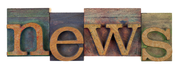 news in vintage letterpress type