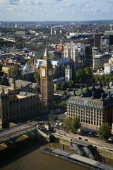 Big Ben, London skyline and Westminster Bridge