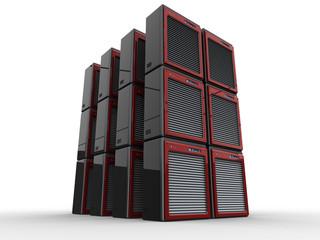 4 computer servers