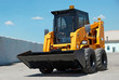 Leinwanddruck Bild - skid steer loader construction machine