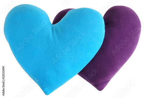 Heart shape cushion. Isolated