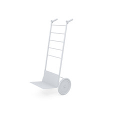 Hand truck isolated on white