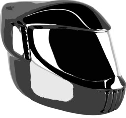 black helmet vector