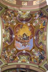 Saint John of Nepomuk on church ceiling