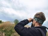 birdwatching man poster