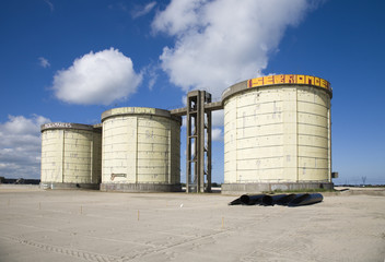Sewage treatment silos