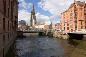 Speicherstadt, Hamburg, Lagerhauskomplex, St. Katharinen