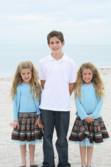 Beautiful children on the beach