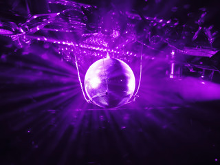shining discoball / mirrorball in motion