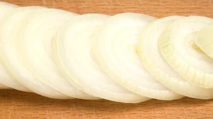 onion on he wooden board