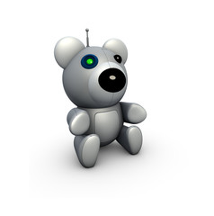 Render of a techno robot bear toy