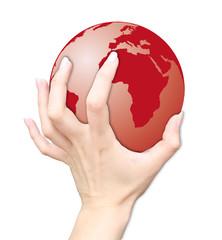 Erde Hand Finger Planet Welt Rot Weltraum Gott