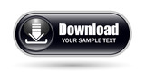 Black Download Sign Icon with Copy Space