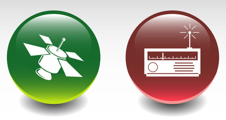 Satellite & Signal Receiver Sign Icons