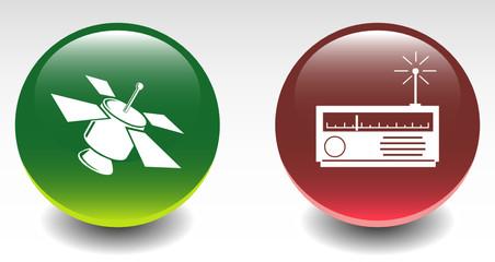 Satellite & Signal Receiver Sign Icons