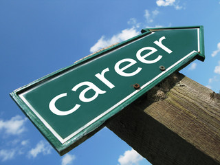 CAREER road sign