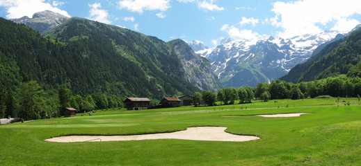 Alpine golf course