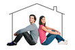 Young couple dreaming new house