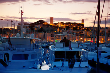 Cannes by evening