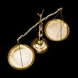 Brass weighing scales