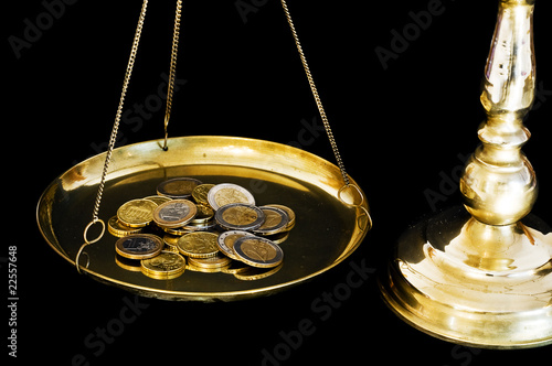 Euros on scales