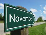 NOVEMBER road sign poster