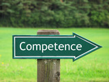 COMPETENCE road sign poster