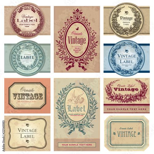 vintage labels set (vector) - 22560083