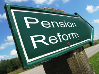 PENSION REFORM road sign
