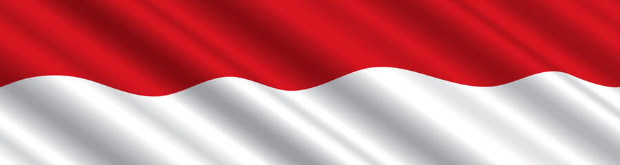 Indonesian Flag in the Wind