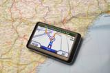 Satellite Navigation System on a map