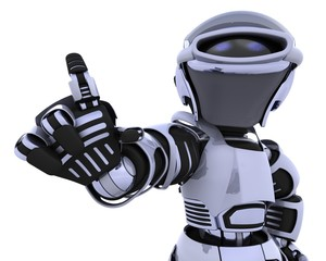 robot pointing