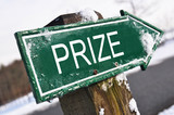 PRIZE road sign poster