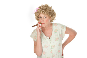 Housewife with cigar