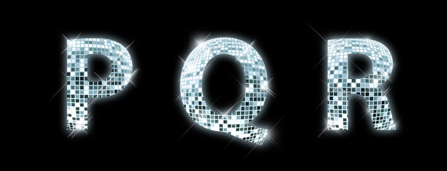 Font made from a disco ball