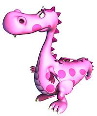 pink baby dragon waiting