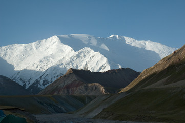 Lenin peak, Pamir region, Kyrgyzstan. View from the North.