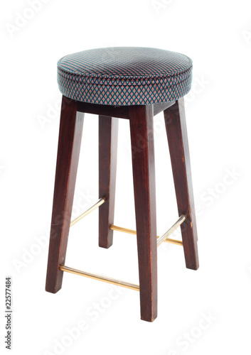 Bar stool isolated on white