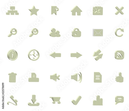 soft greeen icons