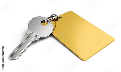Key with golden keyring