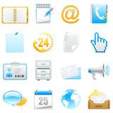 Büro, Kommunikation - Icons