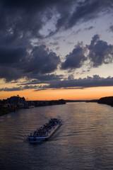 ship on river rhine